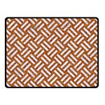 WOVEN2 WHITE MARBLE & RUSTED METAL Fleece Blanket (Small) 50 x40 Blanket Front