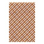 WOVEN2 WHITE MARBLE & RUSTED METAL Shower Curtain 48  x 72  (Small)  42.18 x64.8 Curtain