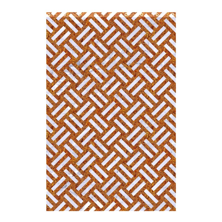 WOVEN2 WHITE MARBLE & RUSTED METAL Shower Curtain 48  x 72  (Small)