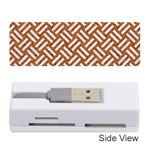 WOVEN2 WHITE MARBLE & RUSTED METAL Memory Card Reader (Stick)  Front