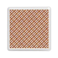 Woven2 White Marble & Rusted Metal Memory Card Reader (square)