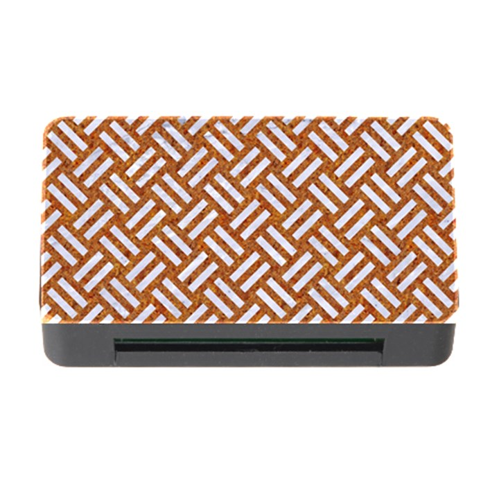 WOVEN2 WHITE MARBLE & RUSTED METAL Memory Card Reader with CF