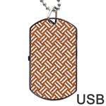WOVEN2 WHITE MARBLE & RUSTED METAL Dog Tag USB Flash (Two Sides) Back