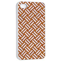 Woven2 White Marble & Rusted Metal Apple Iphone 4/4s Seamless Case (white)