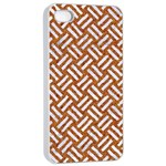 WOVEN2 WHITE MARBLE & RUSTED METAL Apple iPhone 4/4s Seamless Case (White) Front