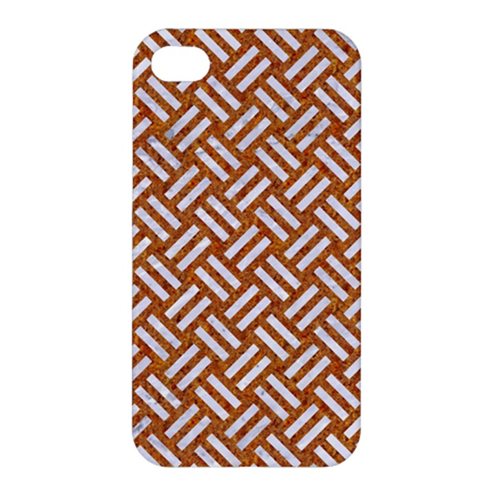 WOVEN2 WHITE MARBLE & RUSTED METAL Apple iPhone 4/4S Hardshell Case