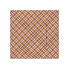 Woven2 White Marble & Rusted Metal Acrylic Tangram Puzzle (4  X 4 )