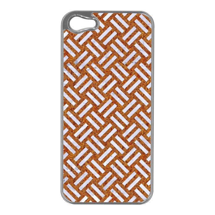 WOVEN2 WHITE MARBLE & RUSTED METAL Apple iPhone 5 Case (Silver)