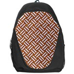 WOVEN2 WHITE MARBLE & RUSTED METAL Backpack Bag Front