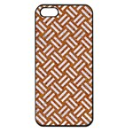 WOVEN2 WHITE MARBLE & RUSTED METAL Apple iPhone 5 Seamless Case (Black) Front