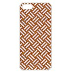 WOVEN2 WHITE MARBLE & RUSTED METAL Apple iPhone 5 Seamless Case (White) Front