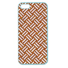 Woven2 White Marble & Rusted Metal Apple Seamless Iphone 5 Case (color)
