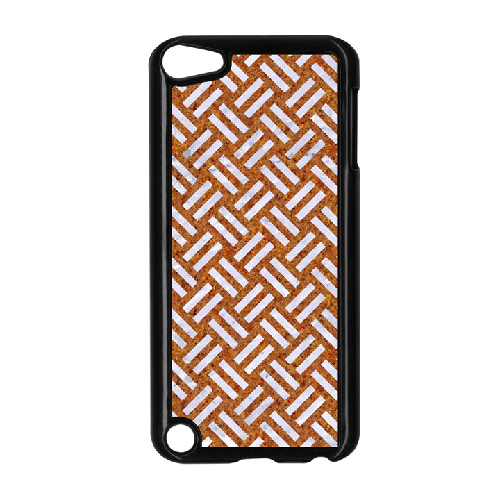 WOVEN2 WHITE MARBLE & RUSTED METAL Apple iPod Touch 5 Case (Black)