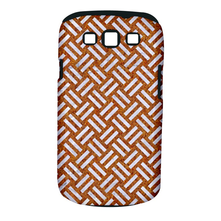 WOVEN2 WHITE MARBLE & RUSTED METAL Samsung Galaxy S III Classic Hardshell Case (PC+Silicone)