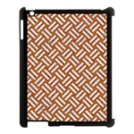 WOVEN2 WHITE MARBLE & RUSTED METAL Apple iPad 3/4 Case (Black) Front