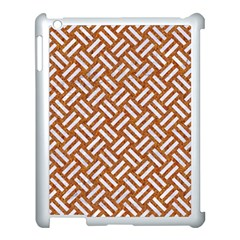 Woven2 White Marble & Rusted Metal Apple Ipad 3/4 Case (white)
