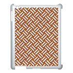 WOVEN2 WHITE MARBLE & RUSTED METAL Apple iPad 3/4 Case (White) Front