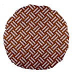 WOVEN2 WHITE MARBLE & RUSTED METAL Large 18  Premium Round Cushions Front