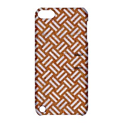Woven2 White Marble & Rusted Metal Apple Ipod Touch 5 Hardshell Case With Stand