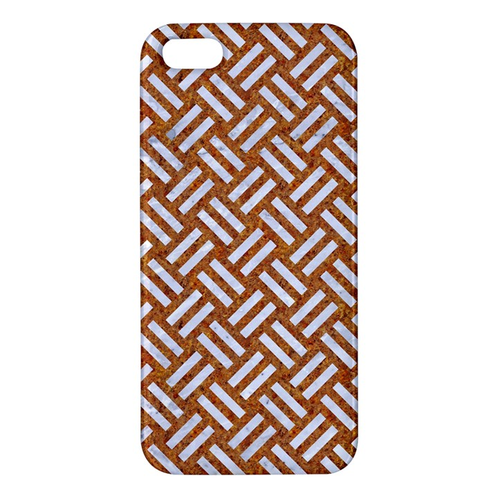 WOVEN2 WHITE MARBLE & RUSTED METAL Apple iPhone 5 Premium Hardshell Case