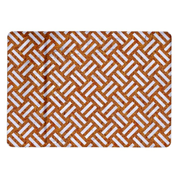 WOVEN2 WHITE MARBLE & RUSTED METAL Samsung Galaxy Tab 10.1  P7500 Flip Case