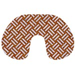WOVEN2 WHITE MARBLE & RUSTED METAL Travel Neck Pillows Front