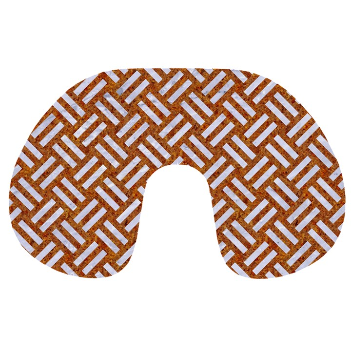 WOVEN2 WHITE MARBLE & RUSTED METAL Travel Neck Pillows