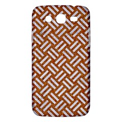 Woven2 White Marble & Rusted Metal Samsung Galaxy Mega 5 8 I9152 Hardshell Case