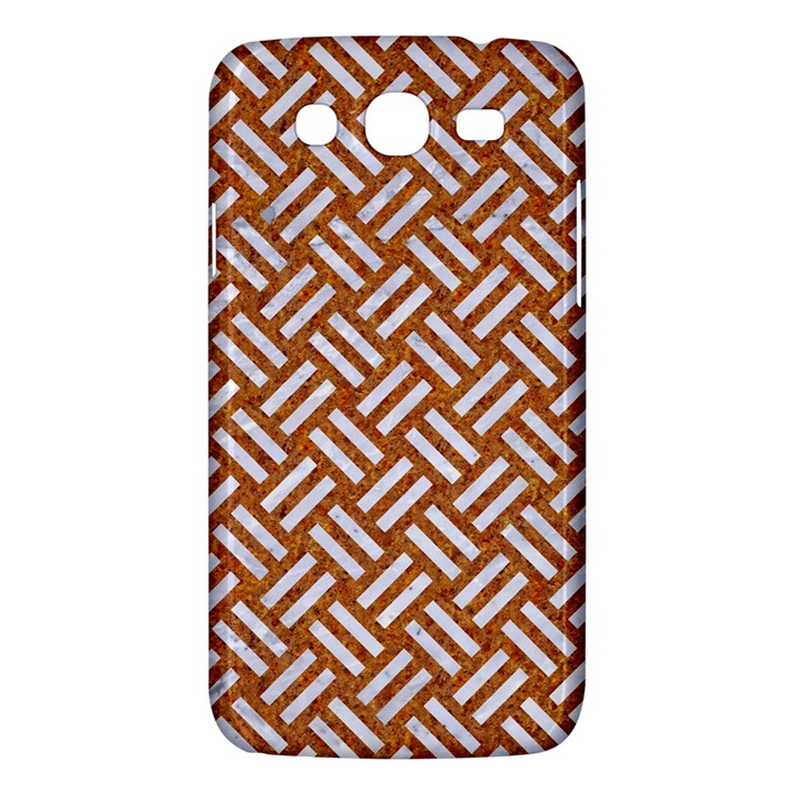 WOVEN2 WHITE MARBLE & RUSTED METAL Samsung Galaxy Mega 5.8 I9152 Hardshell Case
