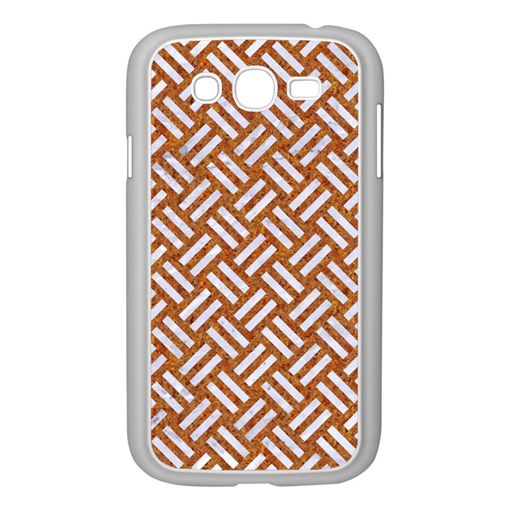 WOVEN2 WHITE MARBLE & RUSTED METAL Samsung Galaxy Grand DUOS I9082 Case (White)