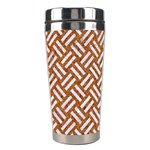 WOVEN2 WHITE MARBLE & RUSTED METAL Stainless Steel Travel Tumblers Left