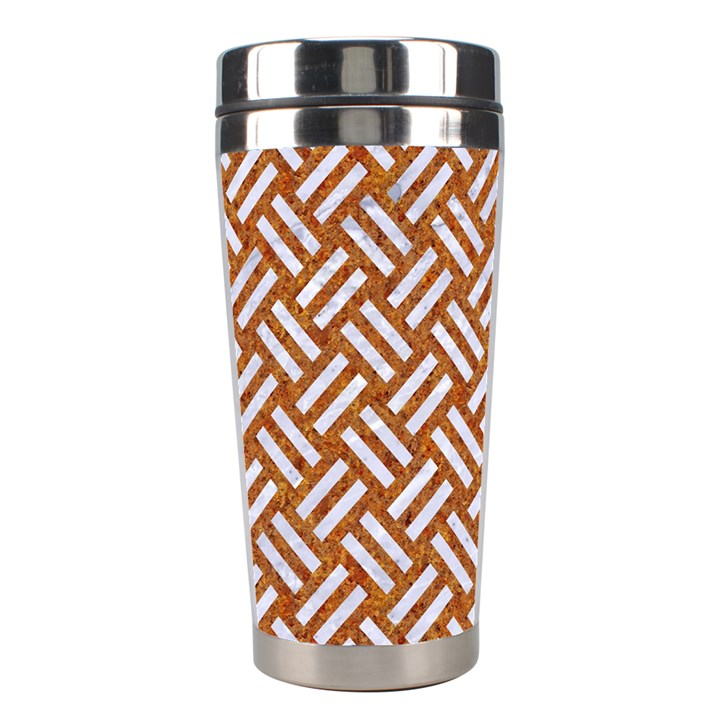 WOVEN2 WHITE MARBLE & RUSTED METAL Stainless Steel Travel Tumblers