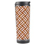 WOVEN2 WHITE MARBLE & RUSTED METAL Travel Tumbler Left