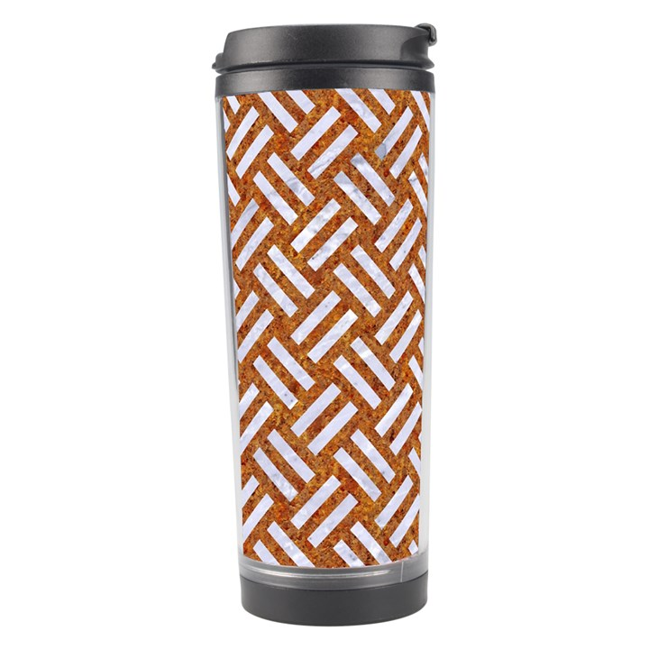 WOVEN2 WHITE MARBLE & RUSTED METAL Travel Tumbler