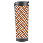 WOVEN2 WHITE MARBLE & RUSTED METAL Travel Tumbler Right