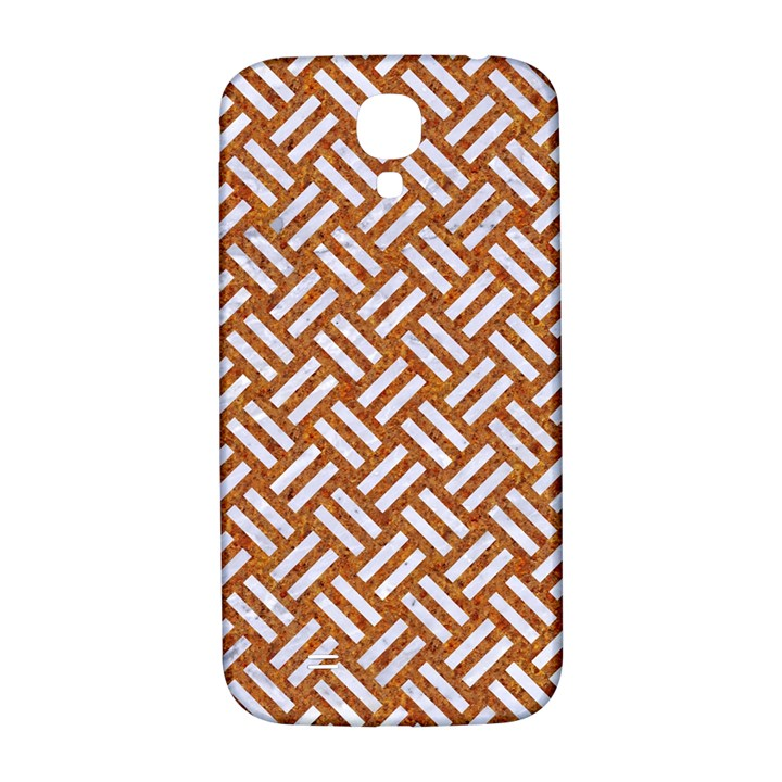 WOVEN2 WHITE MARBLE & RUSTED METAL Samsung Galaxy S4 I9500/I9505  Hardshell Back Case