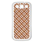 WOVEN2 WHITE MARBLE & RUSTED METAL Samsung Galaxy S3 Back Case (White) Front