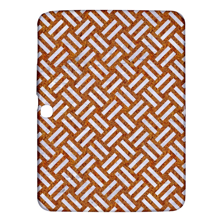 WOVEN2 WHITE MARBLE & RUSTED METAL Samsung Galaxy Tab 3 (10.1 ) P5200 Hardshell Case