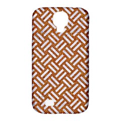 Woven2 White Marble & Rusted Metal Samsung Galaxy S4 Classic Hardshell Case (pc+silicone)