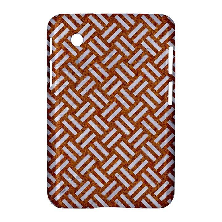 WOVEN2 WHITE MARBLE & RUSTED METAL Samsung Galaxy Tab 2 (7 ) P3100 Hardshell Case