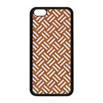 WOVEN2 WHITE MARBLE & RUSTED METAL Apple iPhone 5C Seamless Case (Black) Front
