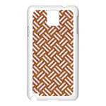 WOVEN2 WHITE MARBLE & RUSTED METAL Samsung Galaxy Note 3 N9005 Case (White) Front