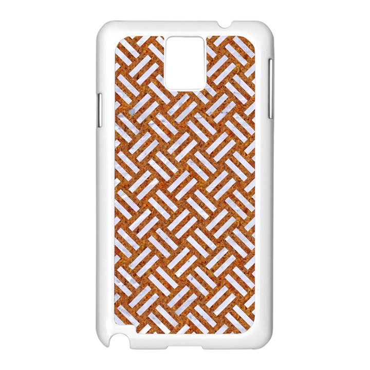 WOVEN2 WHITE MARBLE & RUSTED METAL Samsung Galaxy Note 3 N9005 Case (White)