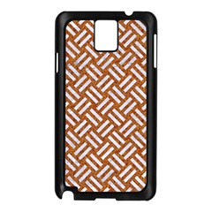 Woven2 White Marble & Rusted Metal Samsung Galaxy Note 3 N9005 Case (black)