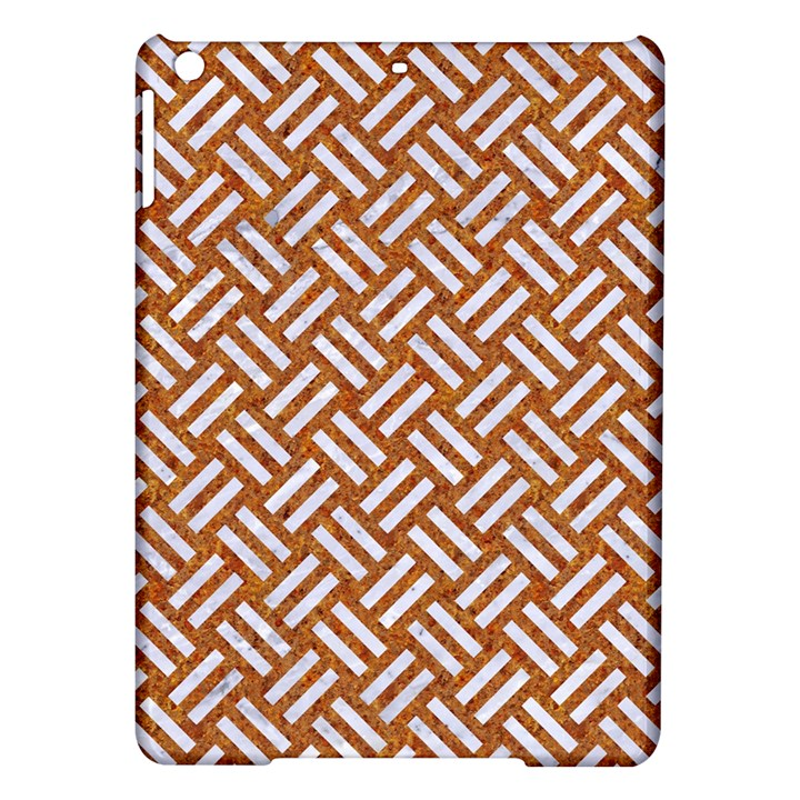 WOVEN2 WHITE MARBLE & RUSTED METAL iPad Air Hardshell Cases