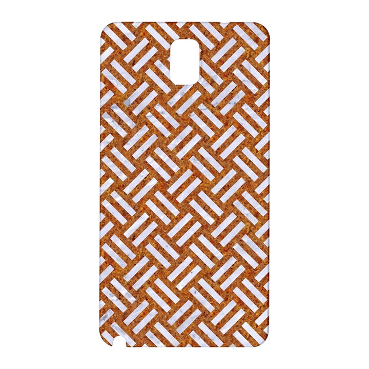 WOVEN2 WHITE MARBLE & RUSTED METAL Samsung Galaxy Note 3 N9005 Hardshell Back Case