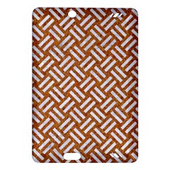 Woven2 White Marble & Rusted Metal Amazon Kindle Fire Hd (2013) Hardshell Case