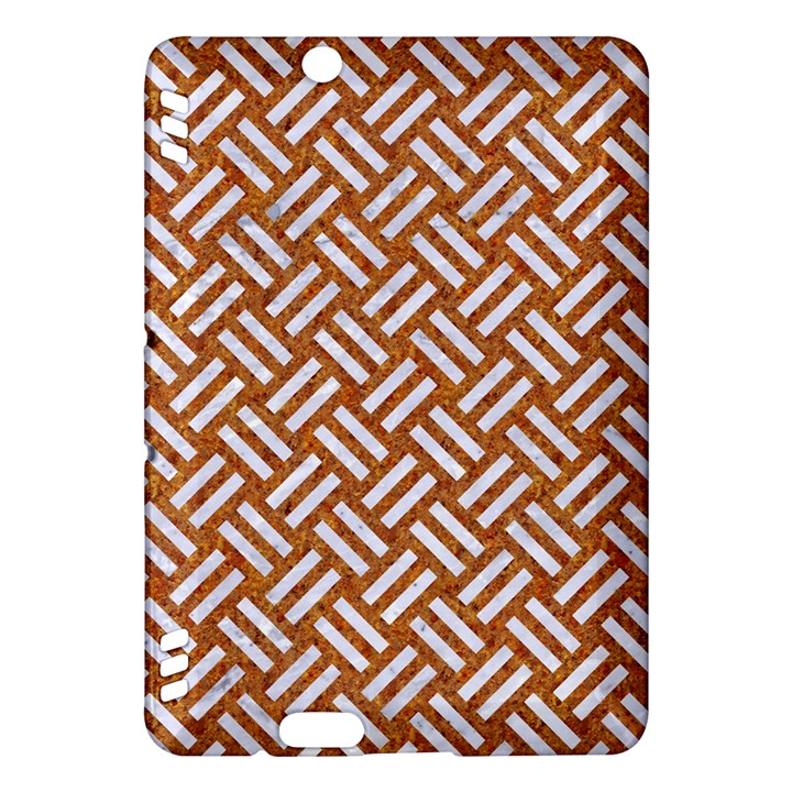 WOVEN2 WHITE MARBLE & RUSTED METAL Kindle Fire HDX Hardshell Case