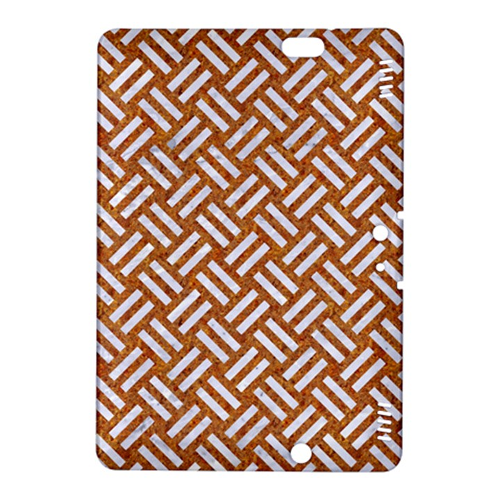 WOVEN2 WHITE MARBLE & RUSTED METAL Kindle Fire HDX 8.9  Hardshell Case