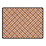 WOVEN2 WHITE MARBLE & RUSTED METAL Double Sided Fleece Blanket (Small)  45 x34 Blanket Front